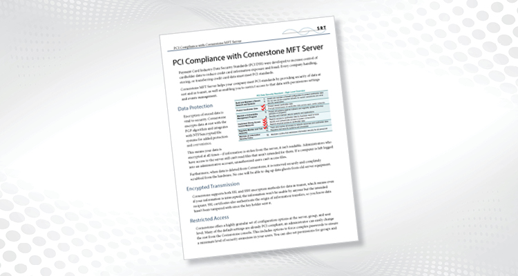 PCI Compliance with Cornerstone MFT