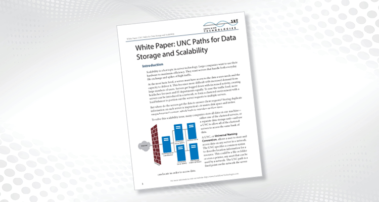 UNC Paths for Data Storage and Scalability